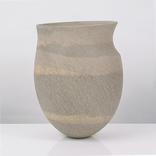 Vessel with extended rim, circa 1987
