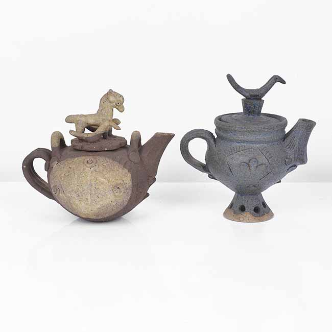 Two Miniature Teapots, circa 1978