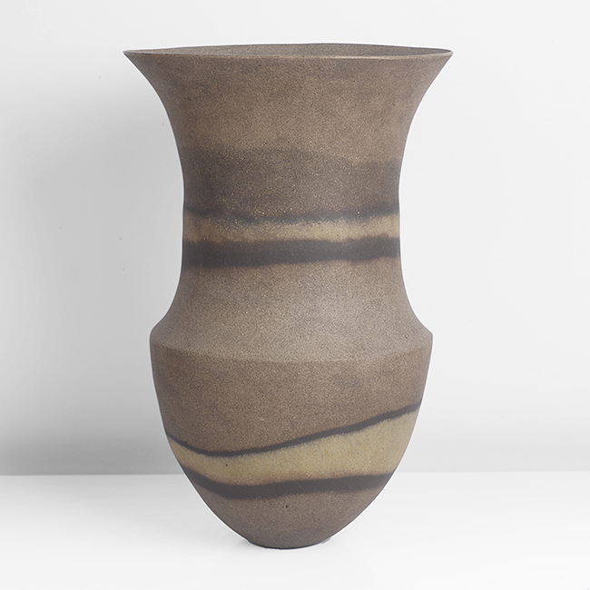 Tall Vessel, 'Olive, two flashed haloed bands' ,1983